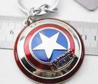 Marvel Comics Captain America Shield Metal Keychain NEW & HOT Combine Shipping
