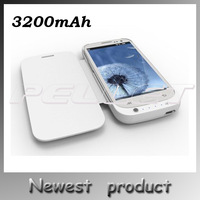 New 2014 External Battery Case For Samsung Galaxy S3 SIII I9300 Backup Battery 3200mAh Emergency Charger Power Bank