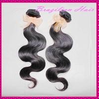 New brand WestKiss human hair brazilain virgin hair deals body wave wefts 2 bundles/lot mixed natural color free shipping