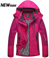 Women Outdoor Camping Hiking Sports Jacket Sportswear Hooded Velvet Waterproof Outerwear Plus Size 3XL