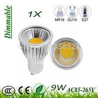 1X Dimmable high power GU10 / E27 / MR16 / B22 / E14 9w 12w 15w led cob spotlight lamp bulb warm Pure white Free Shipping