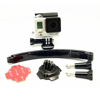 GoPro HERO3+ can be rotated 360 degree rotating base gopro helmet Self-arm accessories