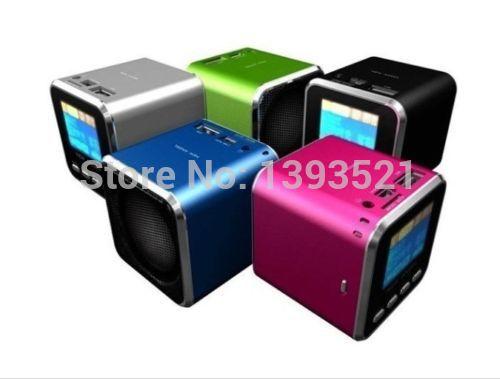 New Angel Music Angel Mini USB LCD MP3 Player Speaker FM TF Card(China (Mainland))