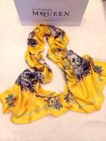2014 new scarf M ~ Q ~ dense color 100% silk long scarf