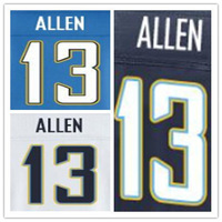 Wholesale Authentic Elite American Football Jersey San Diego #13 Keenan Allen Jersey Dark Blue White Light Blue Free Shipping