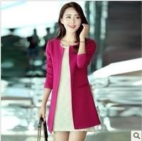 Women Jacket Blazer Suit Long Sleeve Coat Slim Fit Simple Vogue Style