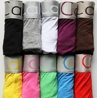 Factory Wholesale Men's Modal and Cotton Sexy Boxers Underwear 11 Colors 4 Sizes Boxer Shorts Men's Underwear
