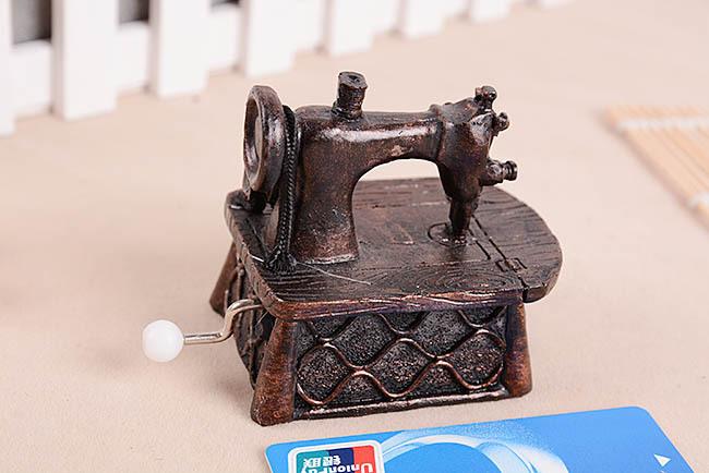 vintage music box music box gifts birthday gift girls telephone sweet house,sewing machine,free shipping(China (Mainland))
