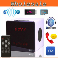 New Portable Touch Mini Bluetooth Speakers Remote Control NFC Wireless Smart Hands Free Speaker With FM Radio Support SD Card