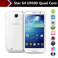 5 inch Star U9500 MTK6582 Quad Core Dual SIM 1GB/4GB S4 i9500 killer mobile phones free leather case