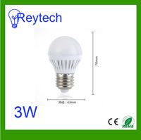 Special Price 3W LED bulb E27 light cool/warm white AC220-240V for room lamps