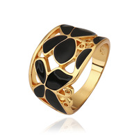 New Design Artistic Style Hollow Out Two Colors Butterfly Fashion Captivating Ring LKN18KRGPR521