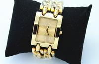Promotion!! Fashion Luxury Gold/Silver Plated Metal Watch Women Dress Watch stylish Quartz Watches Wrist Watch