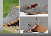 HOT sales 2014 Genuine leather Fur Big Size man Lace-up shoes brand outdoor casual oxford timber shoes land large size 39~47
