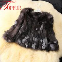 EMC/DHL Free shipping Natural Genuine Real Silver Fox Fur Coat for Women Warm Winter  FP316 Fox Fur Jacket