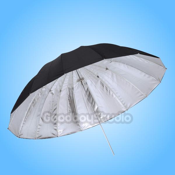 "Studio Photogrphy 75"" / 185cm Silver Black Reflective Lighting Light Umbrella(China (Mainland))"