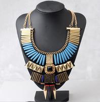 Free shipping!2014 new arrived Fashion Luxury popular  false collar alloy gem short design pendant necklace Bohemian style
