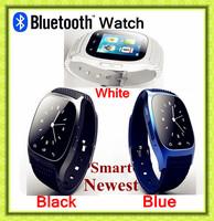 Free shipping 2014 the latest M26 fashion waterproof sports phone call speaker bluetooth smart watch