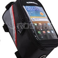 Free shipping Cycling Bike Bicycle Waterproof Frame Pannier Front Cell Phone Tube Bag Case( RANDOM COLOR Three size)D01