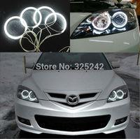 Excellent NEW Ultra bright headlight illumination CCFL Angel Eyes kit For Mazda 3 First generation 2002-2007,ccfl Angel Eyes kit