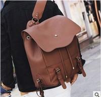 The new man bag shoulder bag Korean men College Wind PU leather backpack 42*32*16CM NBB312 Y8PE