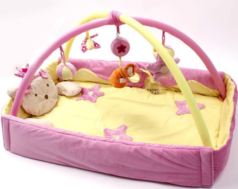 nuovo blu velluto principe musica game pad coperta gioco educativo giocattoli del bambino tappeto da gioco tapete para bebe tapete infantil spedizione gratuita