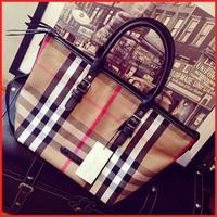European And American Style Vintage Plaid Canvas Handbags Classic Shoulder Bags Women Messenger Bags Bolsas Femininas 2014
