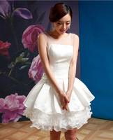 2014 New Arrival Bridesmaid Dress Short Wedding Party Dress Bridesmaid Dresses Prom Dress with Pearls Free Shipping