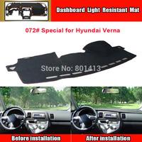 Dashboard Cover Mat for Hyundai Verna, sun block mat ,New Material Fireproof Polyester Fiber