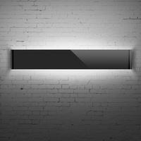220v Lamp led mirror light bathroom 31 / 59 / 89 cm  long  white / black / silver modern brief wall lamp bathroom lights