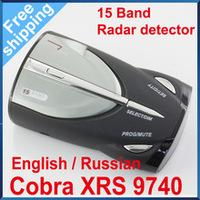 High Quality Cobra XRS 9740 Car Radar Detector 15 Band supporting English&Russian language (CR-08)