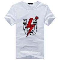 2014 summer new Korean men's short-sleeved T-shirt printing Slim bottoming shirt t-shirt tide male male clothing 88 essential