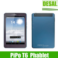 7 inch Original PIPO T6 Phone Call Tablet PC IPS1280x 800 MTK6589T Quad Core 1.5Ghz 1GB+16GB Dual Camera GPS BT WIFI PIPO Tablet