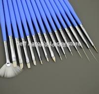 15 PCS  High-quality Acrylic Nail Art Brush Set Nail Painting Drawing Design Pen Dotting Tool Kit