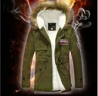 Men's clothing 2014 medium-long plus cashmere jacket male winter outerwear jacket, snow wear outdoor coat