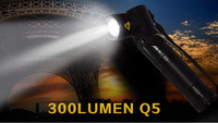 10000hours 5W Q5 K114 LED lights  Adjustable Angle Focus Torch Zoomable Freeshpping by China Post
