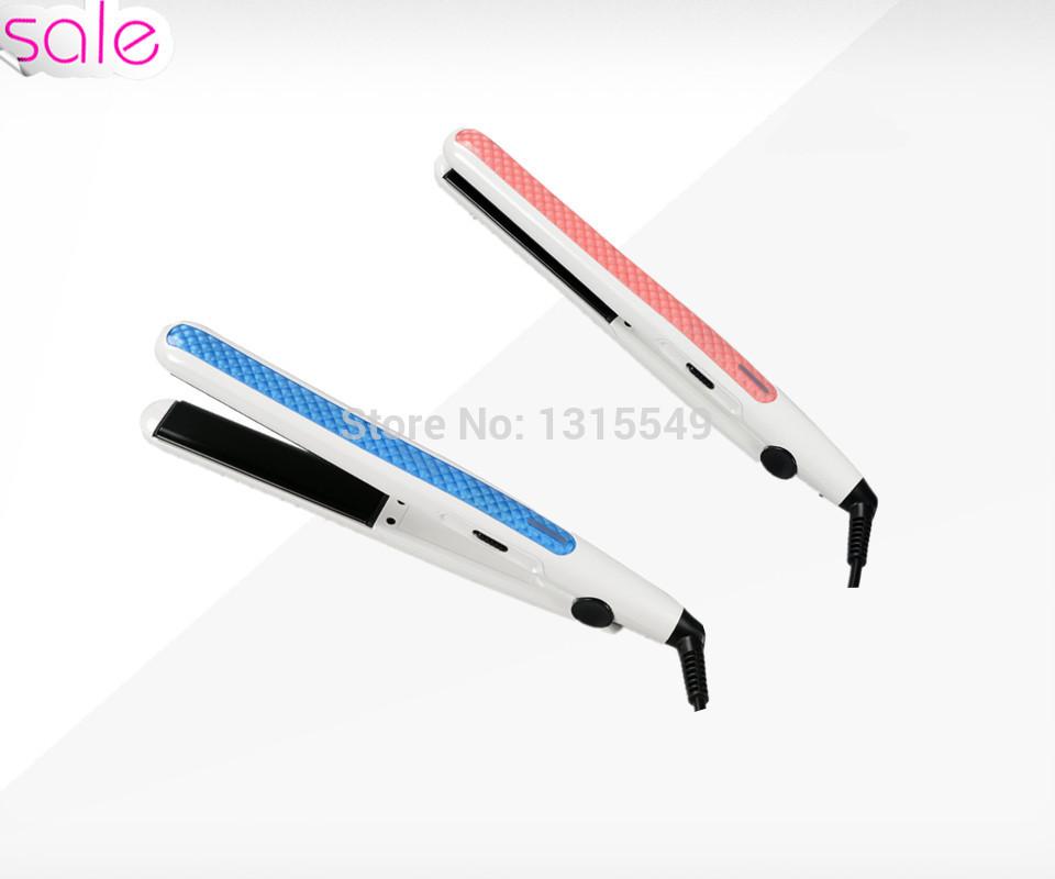 Best Price 200C Tourmaline Ceramic Flat Iron Make Perfect Shape Styling Straightening LED Hair Straightener Pink Hair Tools(China (Mainland))