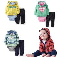 2014 New Carters original baby boy cotton 2PC/SET Autumn clothing set
