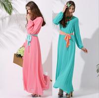 шифоновое платье мусульманских исламской Исламская Одежда для женщин Дубай кафтан Малайзия мусульманских Абая джилбаба хиджаб мусульманского платье