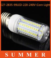5pcs/lot High brightness LED Bulb Lamp E27 2835SMD 99LED AC220V Cold white/warm white Free shipping