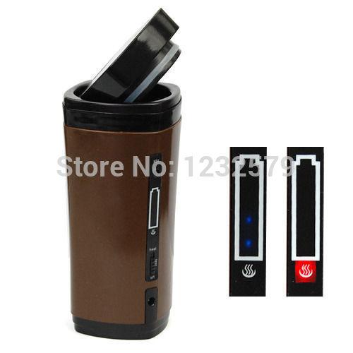 Novo USB elétrico recarregável aquecimento automático agitação Duplas Coffee Milk Tea Travel Mug Thermos Cup & Lid Warmer(China (Mainland))