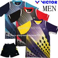 VICTOR 2014 Copenhagen Badminton World Championships Korea Uniforms , VICTOR Badminton clothes Men's  badminton tshirt Yong Dae