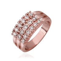 VGR717 Great Price Top Quality Fashion 3 Shanks 18K Rose Gold Plated Wedding Engagement Rings for Women