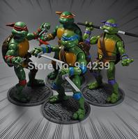 Free Shipping Teenage Mutant Ninja Turtles PVC Action Figure Collection Model Toys Classic Toys 4pcs/set 17cm HWTT901
