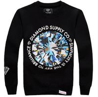 CT-01 new 2014 Autumn winter brand Fashion Casual hip hop sweatshirts diamond supply co men o-neck outerwear Plus size pullover