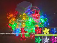 Free shipping 110V or 220V  For  Christmas/wedding decoration small night light  10m 100 leds flower neon color led light string