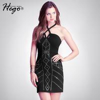 The new Europe summer rivets Slim sling bandage dress sexy nightclub dress women fashion short paragraph