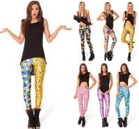 KNITTING BL292 Adventure Time Bro Ball Leggings 2013 fashion new women Digital print Galaxy Pants Free shipping