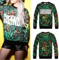 2014 New High quality fashion Versa men women's GREENDAY 3d print couples pullover hip hop Brand Galaxy Sweatshirts Hoodies Tops