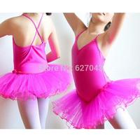 1 Piece Rose Gauze Green Girl Dancing Cloth Children Ballet Dress Kids Gown Tutu Dance Dresses Baby Party Petticoats Ball Girl's